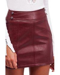 Free People - Retro Vegan Bodycon Mini Skirt - Lyst