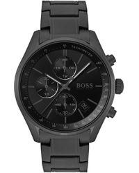 BOSS - Grand Prix Bracelet Strap Chronograph Watch - Lyst