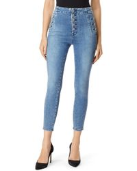 J Brand - Natasha Sky High Crop Super Skinny Jeans - Lyst