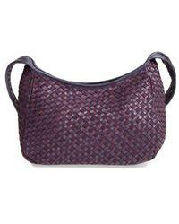 Robert Zur - Small Delia Woven Leather Hobo - Purple - Lyst