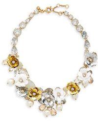 J.Crew - Crystal & Sequin Wreath Necklace - Lyst