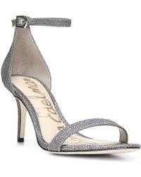97cf9288fdd6 Lyst - Sam Edelman  patti  Ankle Strap Mirror Sandals in Metallic