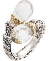 Konstantino - Pythia Crystal Wrap Ring - Lyst