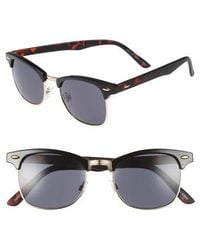 TOPMAN - Clubmaster 50mm Sunglasses - Lyst