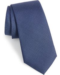Calibrate - Sargent Solid Silk & Cotton Tie - Lyst
