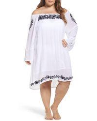 Muche Et Muchette - Cleopatra Off The Shoulder Cover-up Dress - Lyst