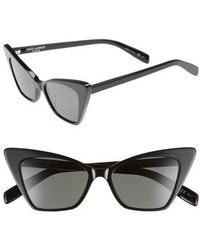 Saint Laurent - 51mm Cat Eye Sunglasses - - Lyst