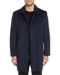 Hart Schaffner Marx - Turner Plaid Wool Blend Topcoat - Lyst