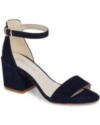 Kenneth Cole - Hannon Block Heel Ankle Strap Sandal - Lyst