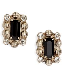 Sorrelli - Crystal & Ball Chain Stud Earrings - Lyst