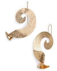 Natasha Couture - Couture Swirl Metal Earrings - Lyst