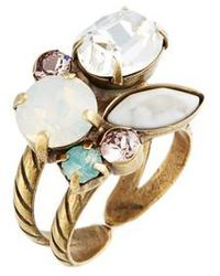 Sorrelli - Intermix Crystal Ring - Lyst