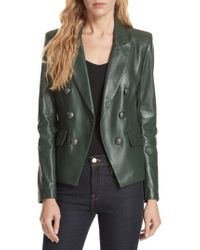 Veronica Beard - Cooke Leather Dickey Jacket - Lyst
