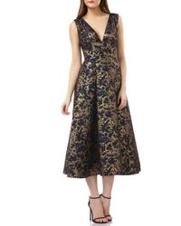 Kay Unger - Jacquard Cocktail Dress - Lyst