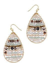Nakamol | Beaded Moonstone Teardrop Earrings | Lyst