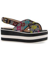 Gucci - Peggy Flatform Sandal - Lyst