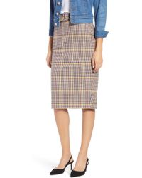 Nordstrom - 1901 Plaid Pencil Skirt - Lyst