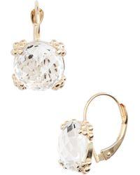 Anzie - Women's Dew Drop Cluster White Topaz & 14k Yellow Gold Drop Earrings - Gold - Lyst