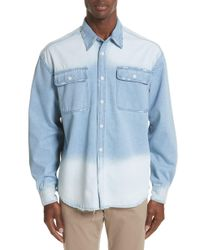 00dec33864c Ovadia And Sons - Oversize Distressed Denim Shirt - Lyst