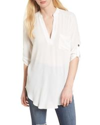 Lush - Perfect Crepe Tunic Top - Lyst