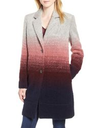 Andrew Marc - Ombre Two-button Car Coat - Lyst