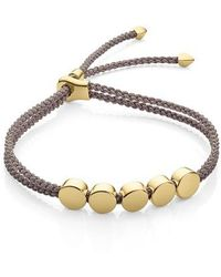 Monica Vinader | Linear Bead Friendship Bracelet | Lyst