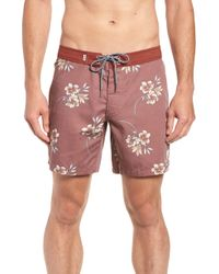 32c9b45df1 Rhythm Sorrento Swim Trunks in Orange for Men - Lyst
