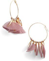 Gas Bijoux - Marley Feather Hoop Earrings - Lyst