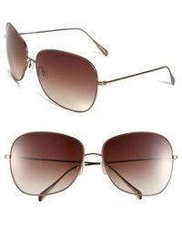 Oliver Peoples - Elsie 64mm Oversize Metal Sunglasses - - Lyst