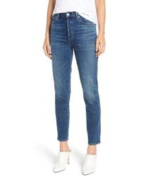 Citizens of Humanity - Olivia High Waist Ankle Slim Jeans - Lyst
