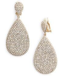 Nina - Pave Disc Earrings - Lyst