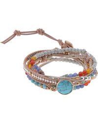 Nakamol - Beaded Stone Wrap Bracelet - Lyst