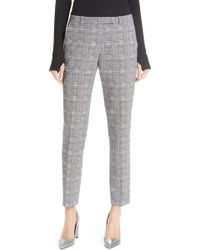 HUGO - Harile Check Plaid Trousers - Lyst