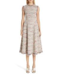 Adam Lippes - Tweed A-line Dress - Lyst