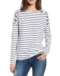 Stateside - Stripe Button Tee - Lyst