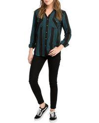 RVCA - Arch Stripe Shirt - Lyst