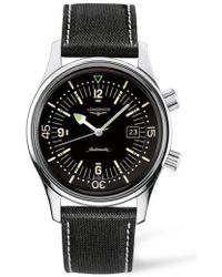 Longines - Heritage Legend Diver Automatic Synthetic Strap Watch - Lyst