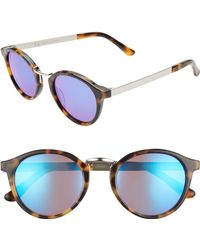 404200e2d7 Madewell - Indio 48mm Round Sunglasses - Demi Tortoise  Flash Blue - Lyst