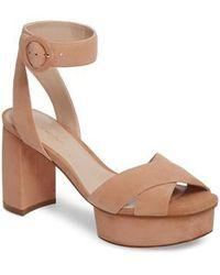 Stuart Weitzman - Carmina Ankle Strap Platform Sandal - Lyst