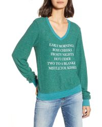 Wildfox - Mistletoe Kisses Sweater - Lyst