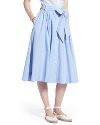 Nordstrom - 1901 Bow Tie Chambray Skirt - Lyst