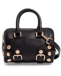 TOPSHOP - Bianca Studded Faux Leather Bowler Bag - - Lyst