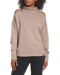 Varley | Keystone Cold Shoulder Sweatshirt | Lyst