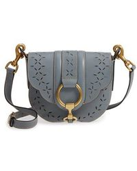 Frye | Ilana Small Perforated Leather Saddle Bag | Lyst