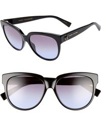 bdffb6ab2920 Lyst - Gentle Monster Matti 51mm Rounded Sunglasses in Black