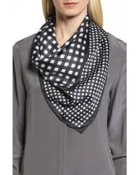 Kate Spade - Gingham Square Silk Scarf - Lyst