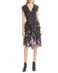 Joie - Kiersten Print Silk Dress - Lyst
