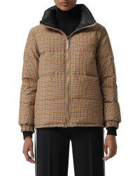 Burberry - Reddich Vintage Check Reversible Down Jacket - Lyst