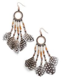 Nakamol | Multi-feather Drop Earrings | Lyst