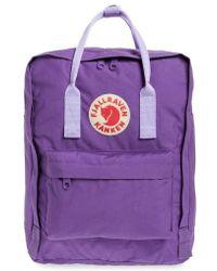 Fjallraven - 'kanken' Water Resistant Backpack - Purple - Lyst